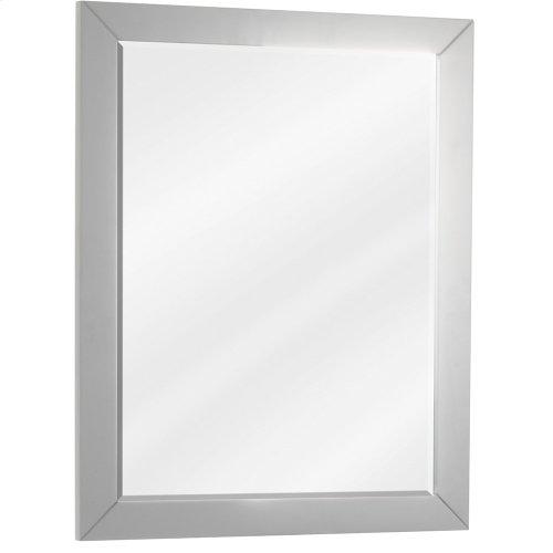 "22"" x 28"" Grey mirror with beveled glass"