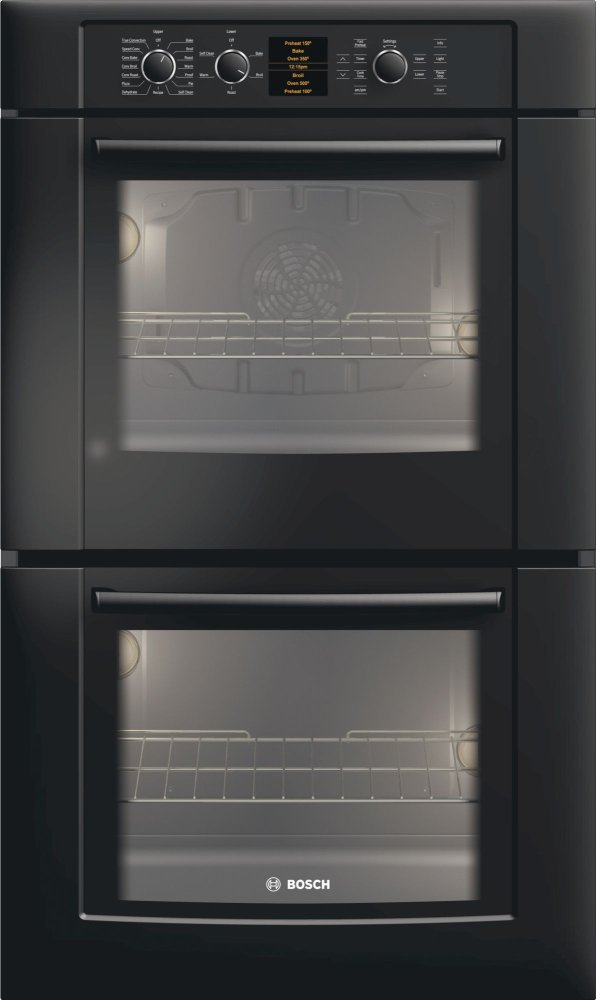 Bosch 30 Double Wall Oven 500 Series Black Hbl5660uc