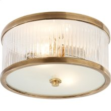 Visual Comfort AH4200HAB-FG Alexa Hampton Randolph 2 Light 11 inch Hand-Rubbed Antique Brass Flush Mount Ceiling Light