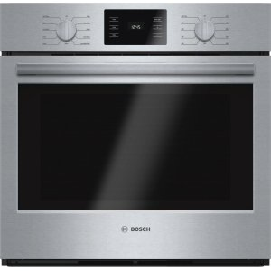 "Bosch500 Series, 30"", Single Wall Oven, SS, EU Convection, Knob Control"