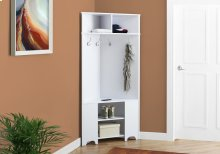 "HALL TREE - 67""H / WHITE CORNER UNIT"