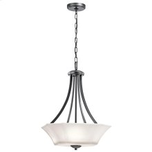 Serina Collection Serina 3 Light Pendant in Black