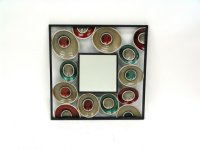 Metal Square Mirror with Orbs-19x19x.75 Product Image