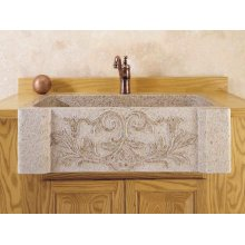 Versailles Farmhouse Sink Beige Granite