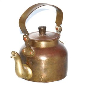 Old Brass Tea Kettle