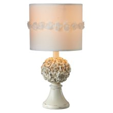 Distressed Rose Ivory Accent Lamp. 40W Max
