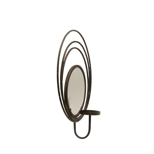 """Silver Mirror Sconce Candle Holder 16.3"""""""