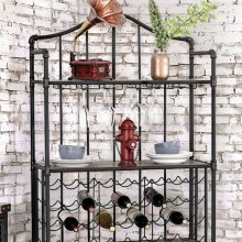 Brixton Ii Wine Cabinet W/ Foldable Table