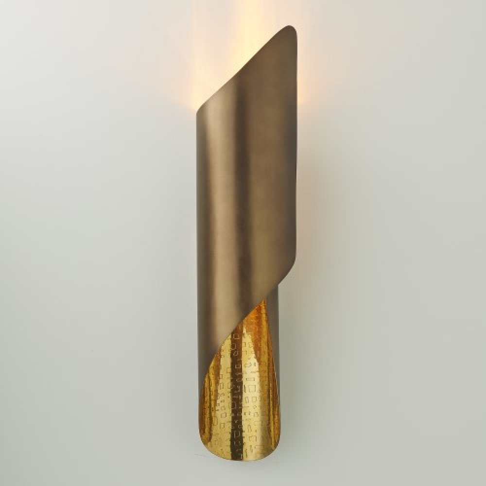 Curl Wall Sconce-Antique Brass-HW