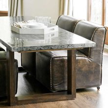 Lfd - Zinc Dining Table With Parquet Top