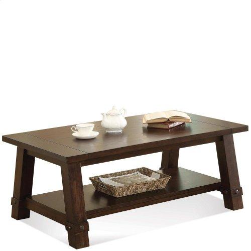 Windridge - Angled Leg Coffee Table - Sagamore Burnished Ash Finish