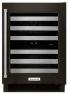 """24"""" Stainless Steel Wine Cellar with Metal-Front Racks - Black Stainless Product Image"""