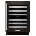 """24"""" Stainless Steel Wine Cellar With Metal-Front Racks - Black Stainless Steel With Printshield(tm) Finish"""