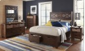Painted Canyon Queen Storage Bed