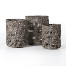 Natural Finish Woven Baskets (set of 3)