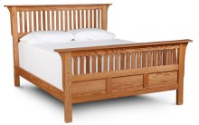 Mission Paneled Slat Bed, King