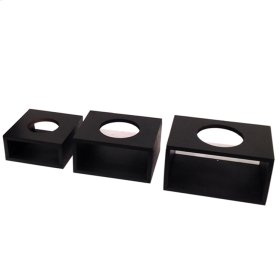 Square bases for glass Balls (Set of 3)