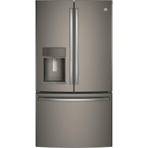 GE Profile™ Series ENERGY STAR® 22.2 Cu. Ft. Counter-Depth French-Door Refrigerator with Hands-Free AutoFill - SLATE