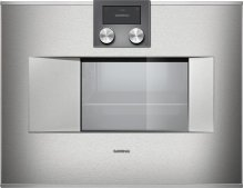 """400 Series Combi-steam Oven Stainless Steel-backed Full Glass Door Width 24"""" (60 Cm) Right-hinged Controls On Top"""