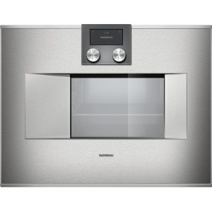 "Gaggenau400 Series Combi-steam Oven Stainless Steel-backed Full Glass Door Width 24"" (60 Cm) Right-hinged Controls On Top"