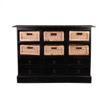 CC-CAB918LD-AB-B  Cottage Six Basket Cabinet