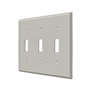 Switch Plate, Triple Standard - Brushed Nickel