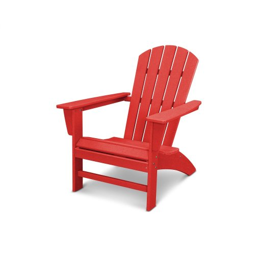 Vintage Sunset Red Nautical Adirondack Chair in Vintage Finish