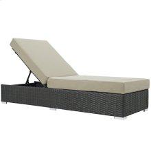 Sojourn Outdoor Patio Sunbrella® Chaise Lounge in Canvas Antique Beige
