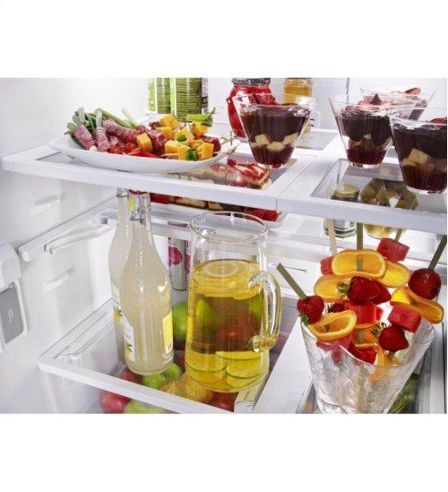 KitchenAid® 20 Cu. Ft. Standard-Depth French Door Refrigerator, Architect® Series II - Stainless Steel