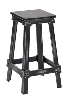 "New Castle 26"" Antique Black Metal Barstool, Kd"