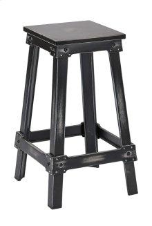 "New Castle 26"" Antique Black Metal Barstool, Kd"