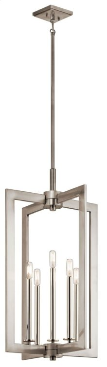 "Cullen 18"" 5 Light Foyer Pendant Classic Pewter"