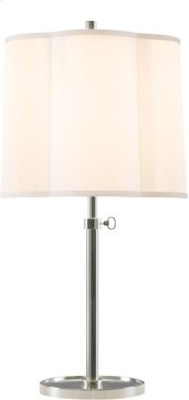 Visual Comfort BBL3023SS-S Barbara Barry Simple 26 inch 150 watt Soft Silver Decorative Table Lamp Portable Light
