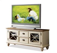 Coventry 58-Inch TV Console Weathered Driftwood/Dover White finish Product Image