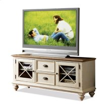 Coventry 58-Inch TV Console Weathered Driftwood/Dover White finish