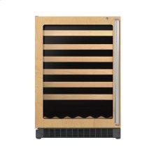 """24"""" Custom Panel Wine Cellar - DFUW (Left Hinge Clear Door)"""