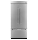 36-inch Stainless Steel Panel Kit for Fully Integrated Built-In French Door Refrigerator, Pro-Style® Stainless