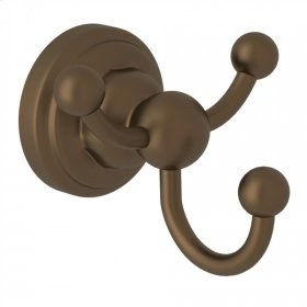 English Bronze Perrin & Rowe Edwardian Wall Mount Triple Robe Hook