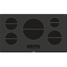 "500 Series 36"" Induction Cooktop, NIT5668UC, Black Frameless"