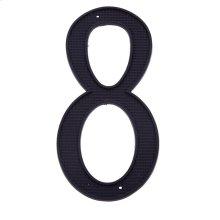 """Black 4"""" House Number """"8"""""""