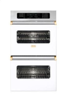 """30"""" Double Custom Electric Touch Control Select Oven, Brass Accent"""