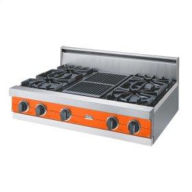 "Pumpkin 36"" Open Burner Rangetop - VGRT (36"" wide, four burners 12"" wide char-grill)"