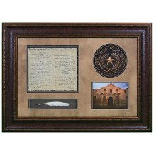 Shadowbox W/Seal,Letter & Feather