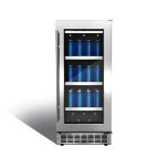 "SilhouettePiedmont 15"" single zone beverage center."