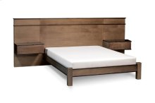 "Audri Panel Bed with 18"" Attached Nightstands (Redesigned), Audri Panel Bed with 18"" Attached Nightstands, California King"