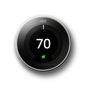 Nest Learning Thermostat - 3rd generation, Polished Steel