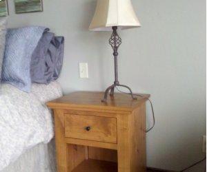 Virginia City One Drawer & Low Shelf Nightstand