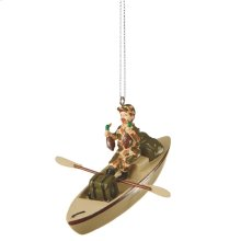 Duck Hunter in Boat Ornament.