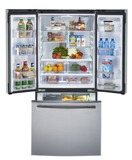 24.5 cu.ft. French Door Bottom-Mount, w/Factory Installed Icemaker