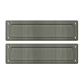 """Mail Slot 13 1/8"""" with Interior Flap - Antique Nickel"""